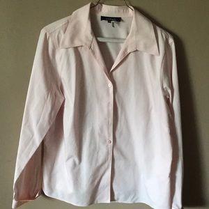 Joneswear pink long sleeve button down blouse